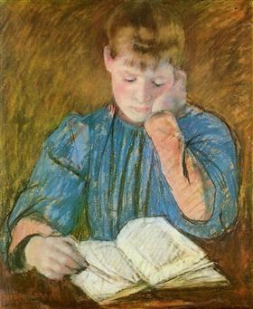 The Pensive Reader - Mary Cassatt