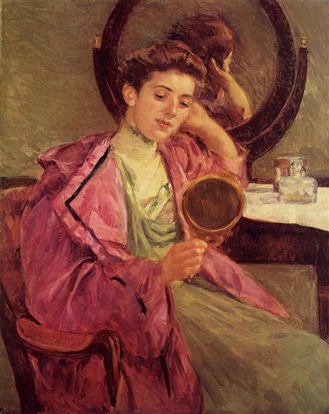 Woman at Her Toilette, 1909 - Mary Cassatt