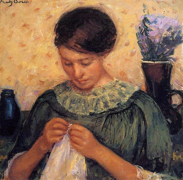 Woman Sewing, 1913 - 1914 - Mary Cassatt