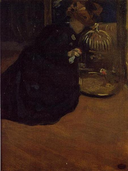 Woman with a Parakeet, 1898 - Mary Cassatt