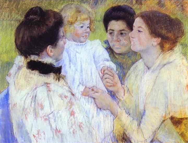 Women Admiring a Child, 1897 - Mary Cassatt