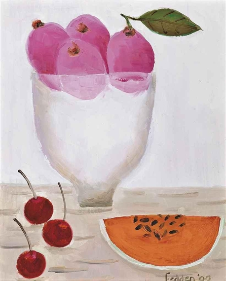 Three Cherries, 2000 - Mary Fedden