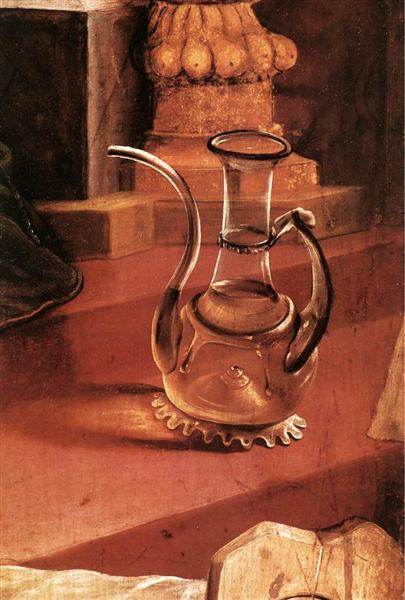 A Glass Jug (detail from the Concert of Angels from the Isenheim Altarpiece), c.1512 - c.1516 - Matthias Grünewald