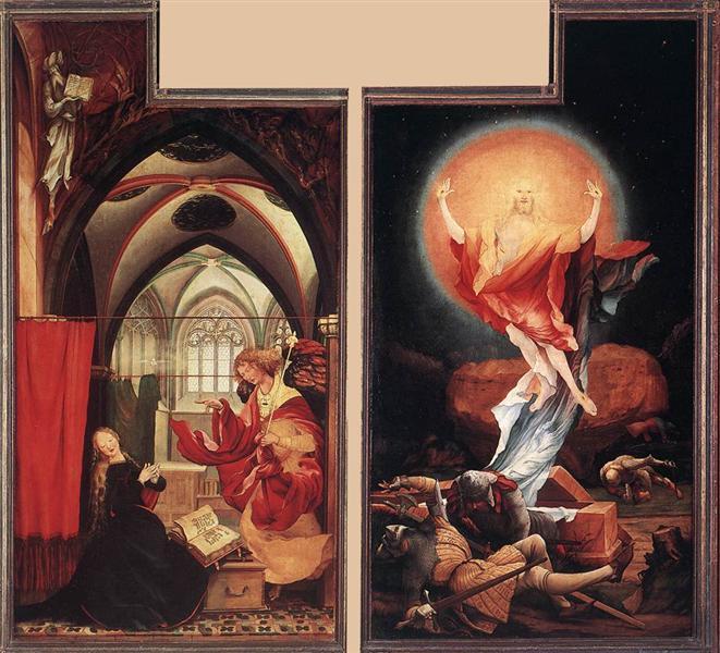 Annunciation and Resurrection, c.1515 - Matthias Grünewald