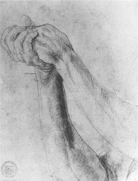 Forearm Study, 1512 - 1514 - Matthias Grünewald