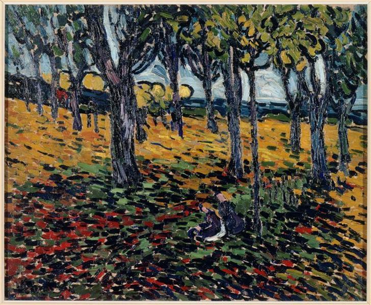 The Chestnut Grove at Chatou - Maurice de Vlaminck