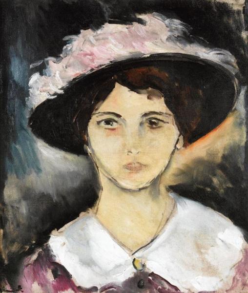 Woman in a Pink Hat, c.1911 - Maurice de Vlaminck