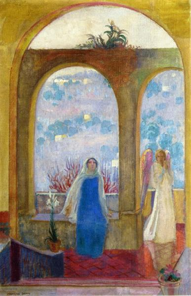 The Annunciation under the Arch with Lilies, 1913 - Maurice Denis