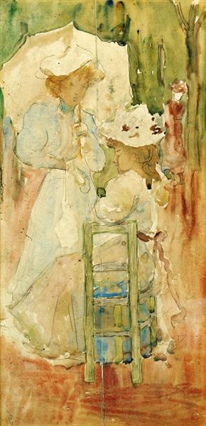 Dos mujeres en un parque - Maurice Prendergast