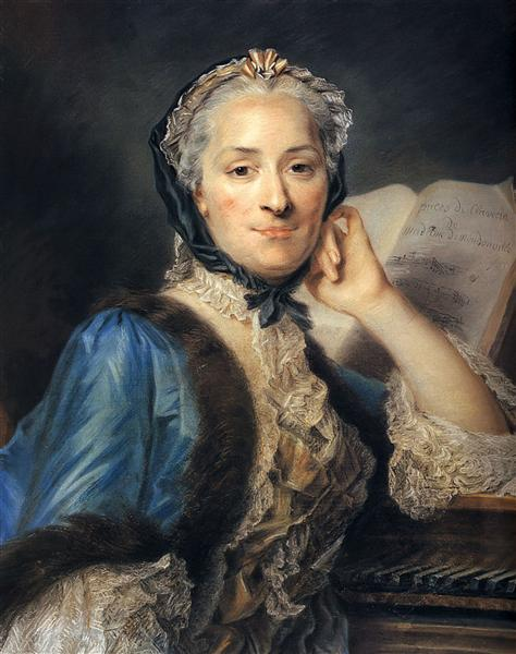 Madame de Mondonville - Maurice Quentin de La Tour