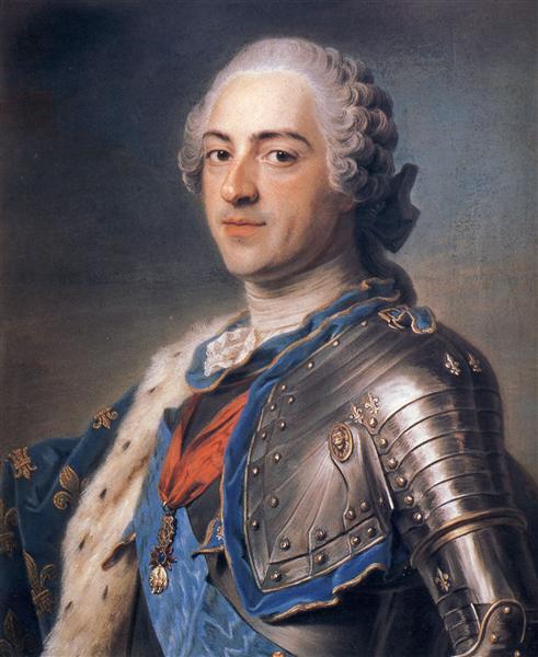 Portrait of King Louis XV, 1748 - Maurice Quentin de La Tour