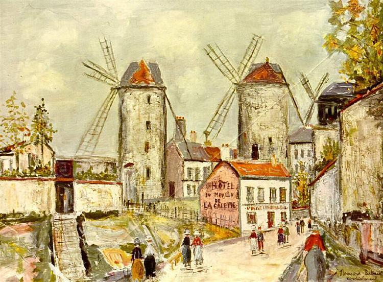 Windmills of Montmartre - Морис Утрилло