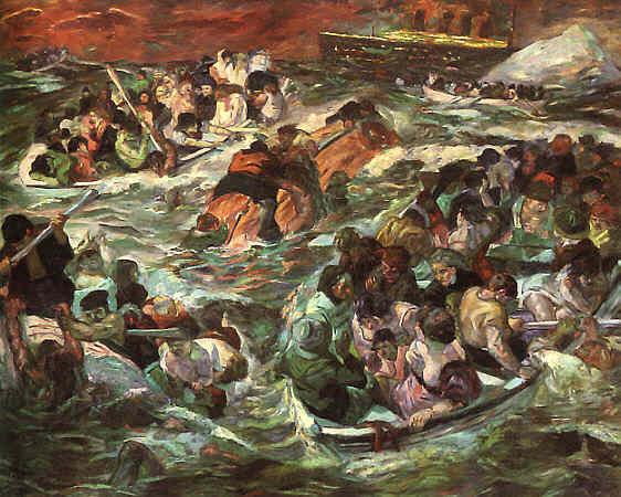 Sinking of the Titanic, 1912 - Max Beckmann