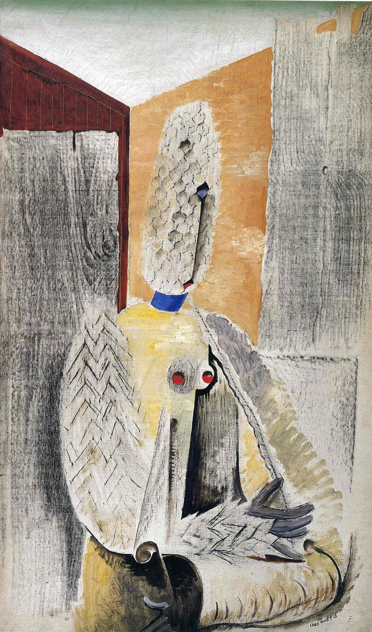 A young nude - Max Ernst. Artist: Max Ernst. Style: Surrealism