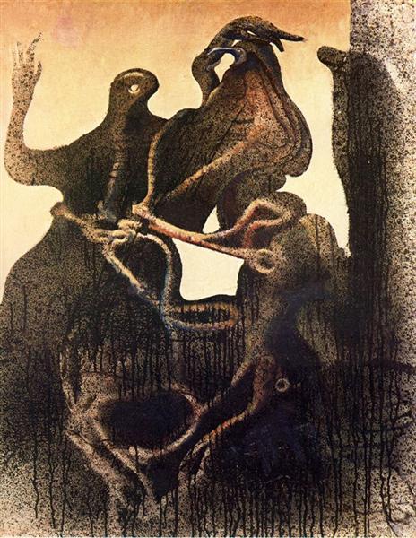 Birth of Zoomorph Couple, 1933 - Max Ernst
