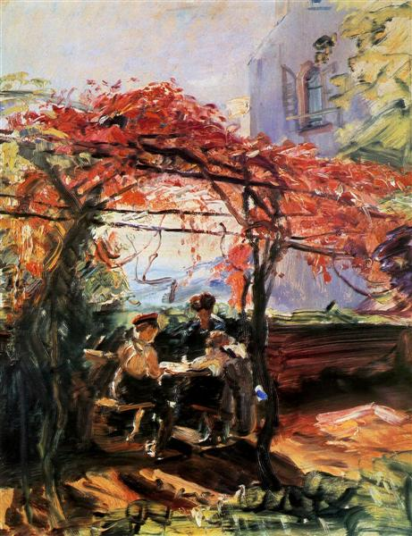 Artist's children in garden - Max Slevogt