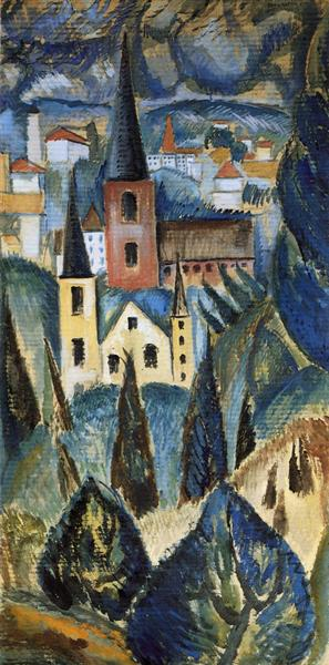Landscape with Church Spires and Trees, 1911 - Max Weber