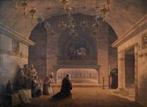 View of Church of the Nativity in 1833 - Maxim Nikiforowitsch Worobjow