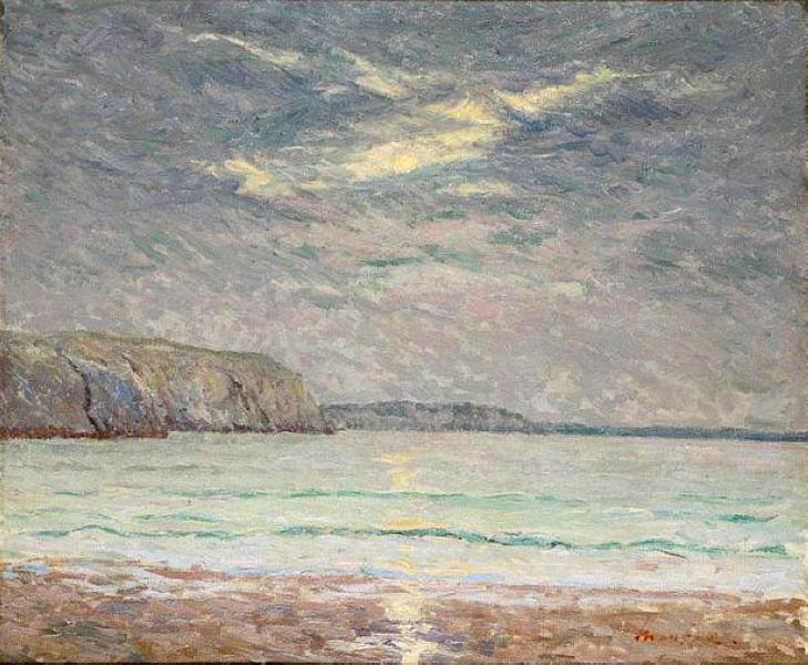 Cliffs at Sunset - Maxime Maufra