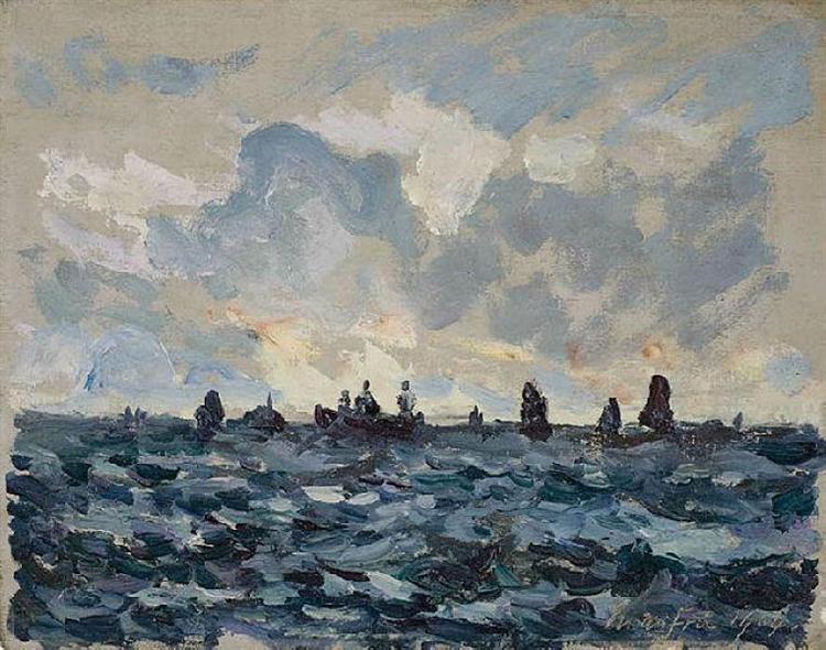 Fishing sardine boat, 1909 - Maxime Maufra