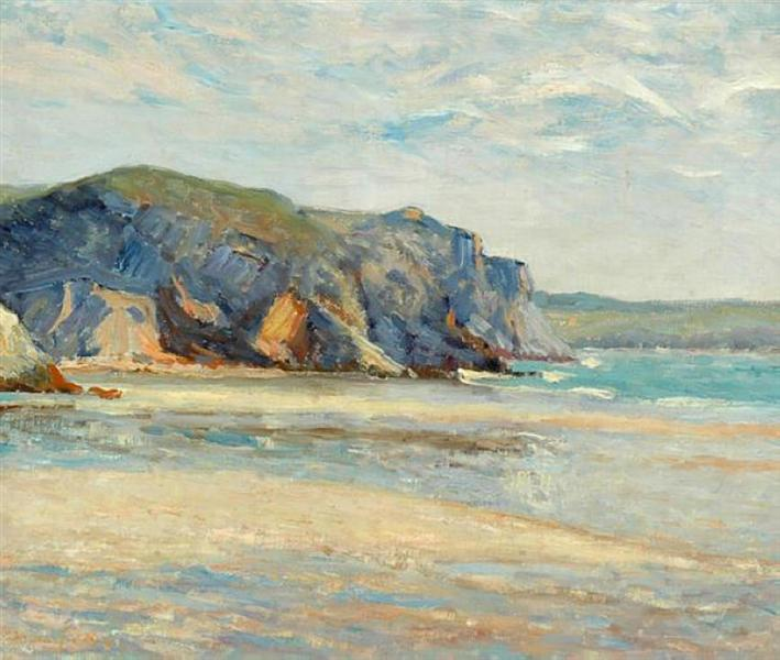 The Beach at Morgat, Finistere, 1899 - Maxime Maufra