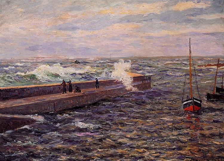 The Jetty at Pontivy, 1909 - Maxime Maufra