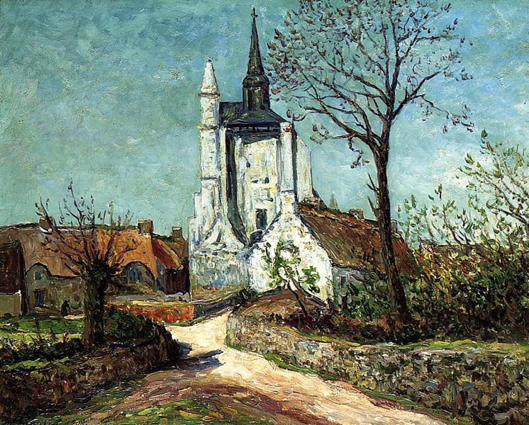 The Village and Chapel of Sainte-Avoye (Morbihan), 1908 - Maxime Maufra