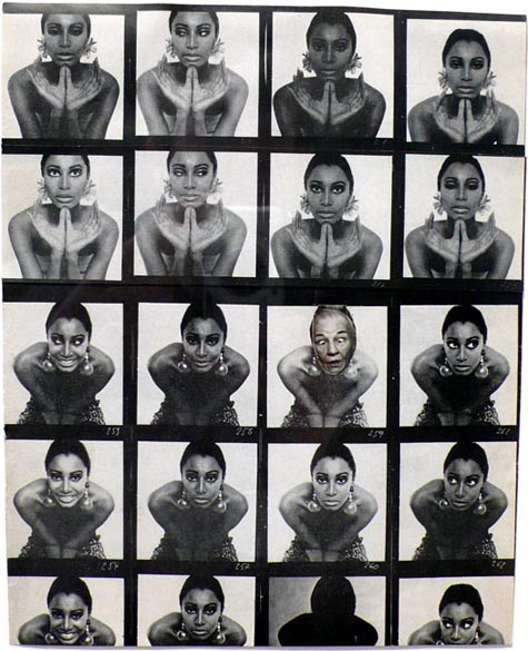 Ridiculous Portrait (Contact Sheet), 1972 - May Wilson