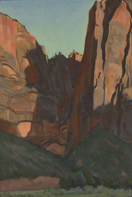 Notch in the Wall, Zion National Park, August 1933, 1933 - Maynard Dixon