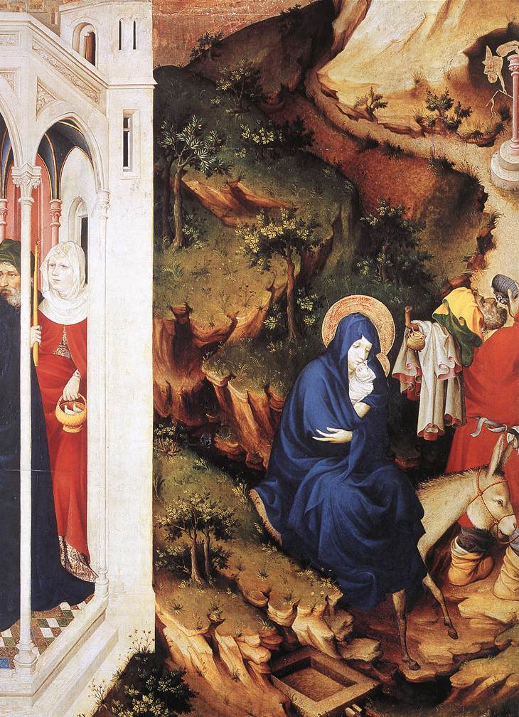 The Flight into Egypt (from Altar of Philip the Bold), 1399