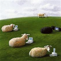 Sheepwith Lap Tops - Michael Sowa