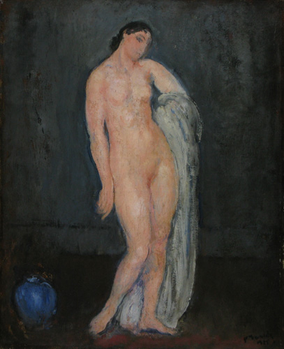 Nude with Blue Vase, 1925 - Michel Simonidy