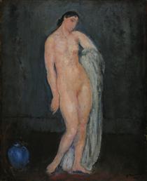 Nude with Blue Vase - Michel Simonidy