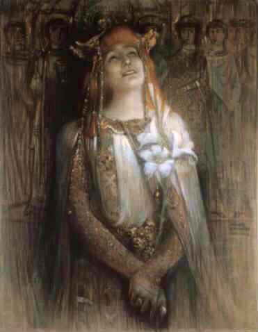 Sarah Bernhardt in Teodora Bizanţului, 1903 - Michel Simonidy