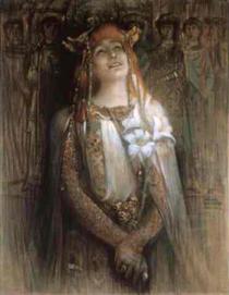 Sarah Bernhardt in Teodora Bizanţului - Michel Simonidy