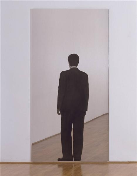 Standing Man (Mirror Painting), 1962 - Michelangelo Pistoletto