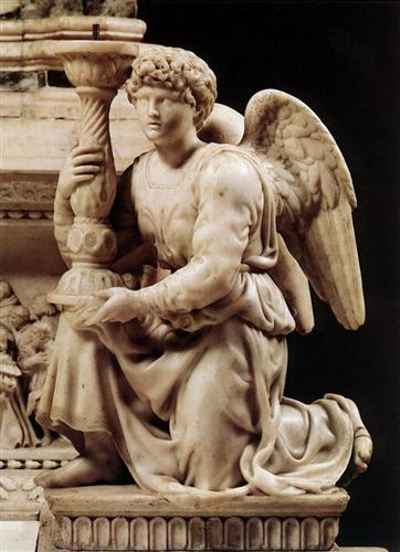 Angel with Candlestick - Michelangelo