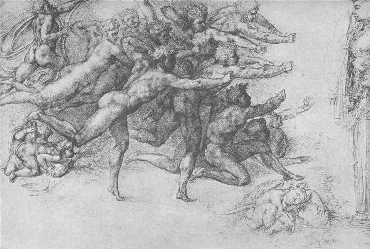 Archers shooting at a herm, c.1530 - Michelangelo