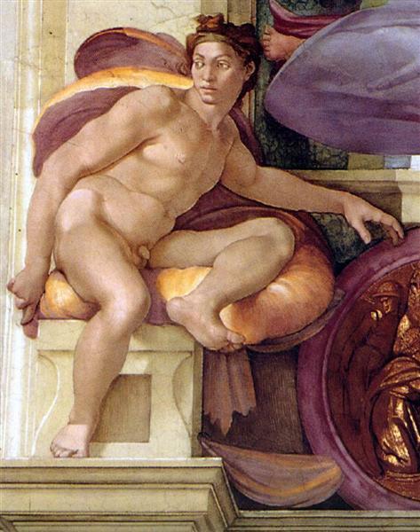 Ignudo, c.1509 - Michelangelo