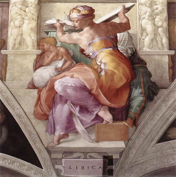 Sistine Chapel Ceiling: Libyan Sibyl, c.1510 - Michelangelo