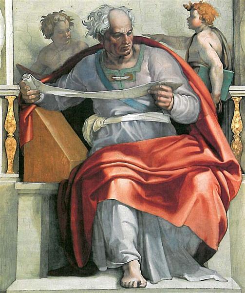 Sistine Chapel Ceiling: The Prophet Joel, 1512 - Michelangelo