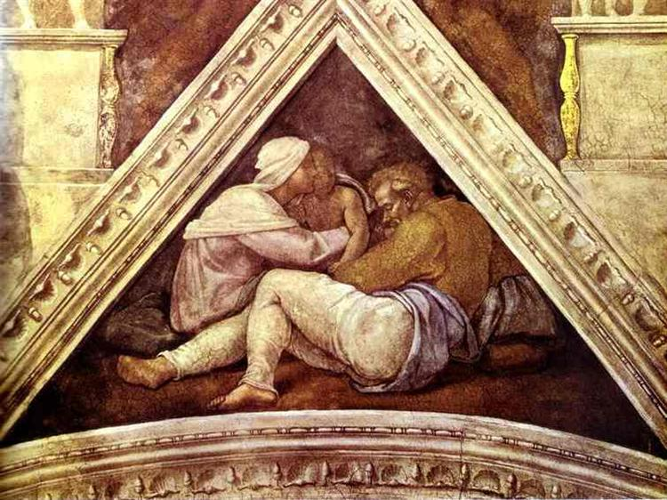 The Ancestors of Christ: Josias, 1509 - Michelangelo