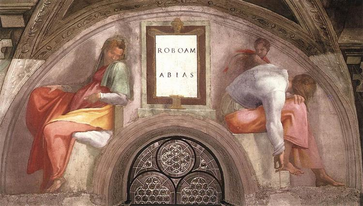 The Ancestors of Christ: Rehoboam, Abijah, 1512 - Michelangelo