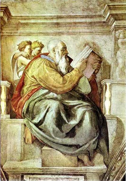 The Prophet Zechariah, 1512 - Michelangelo
