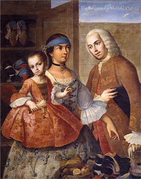 De español y mestiza, castiza, 1763 - Miguel Cabrera