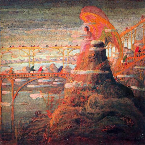 Angel (Angel prelude), 1909 - Mikalojus Konstantinas Ciurlionis