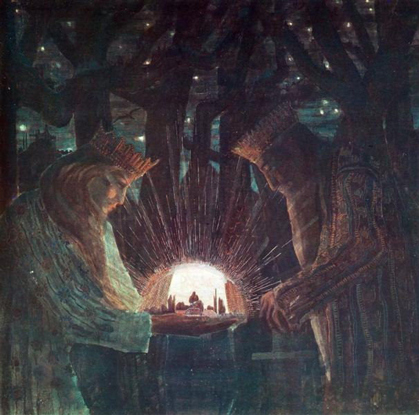 Kings (Fairy Tale Kings ), 1909 - Mikalojus Konstantinas Ciurlionis