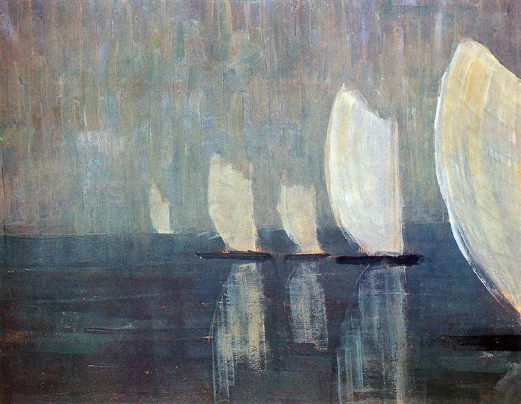 Sailing boats, 1906 - Mikalojus Konstantinas Ciurlionis