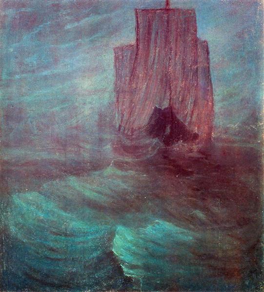 Ship, 1906 - Mikalojus Konstantinas Ciurlionis