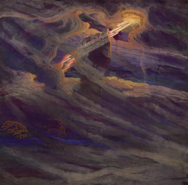 Thor, 1909 - Mikalojus Konstantinas Ciurlionis